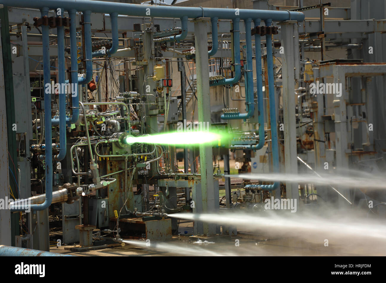 Heat-testing 3-D Printed Parts - Stock Image