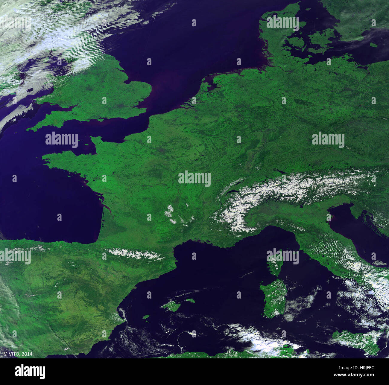 Europe From Above - Stock Image
