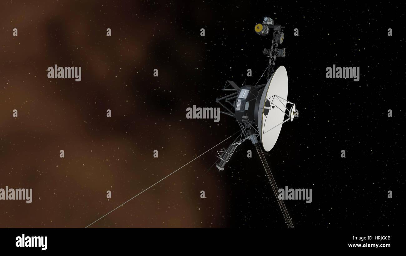Voyager 1 Enters Interstellar Space - Stock Image
