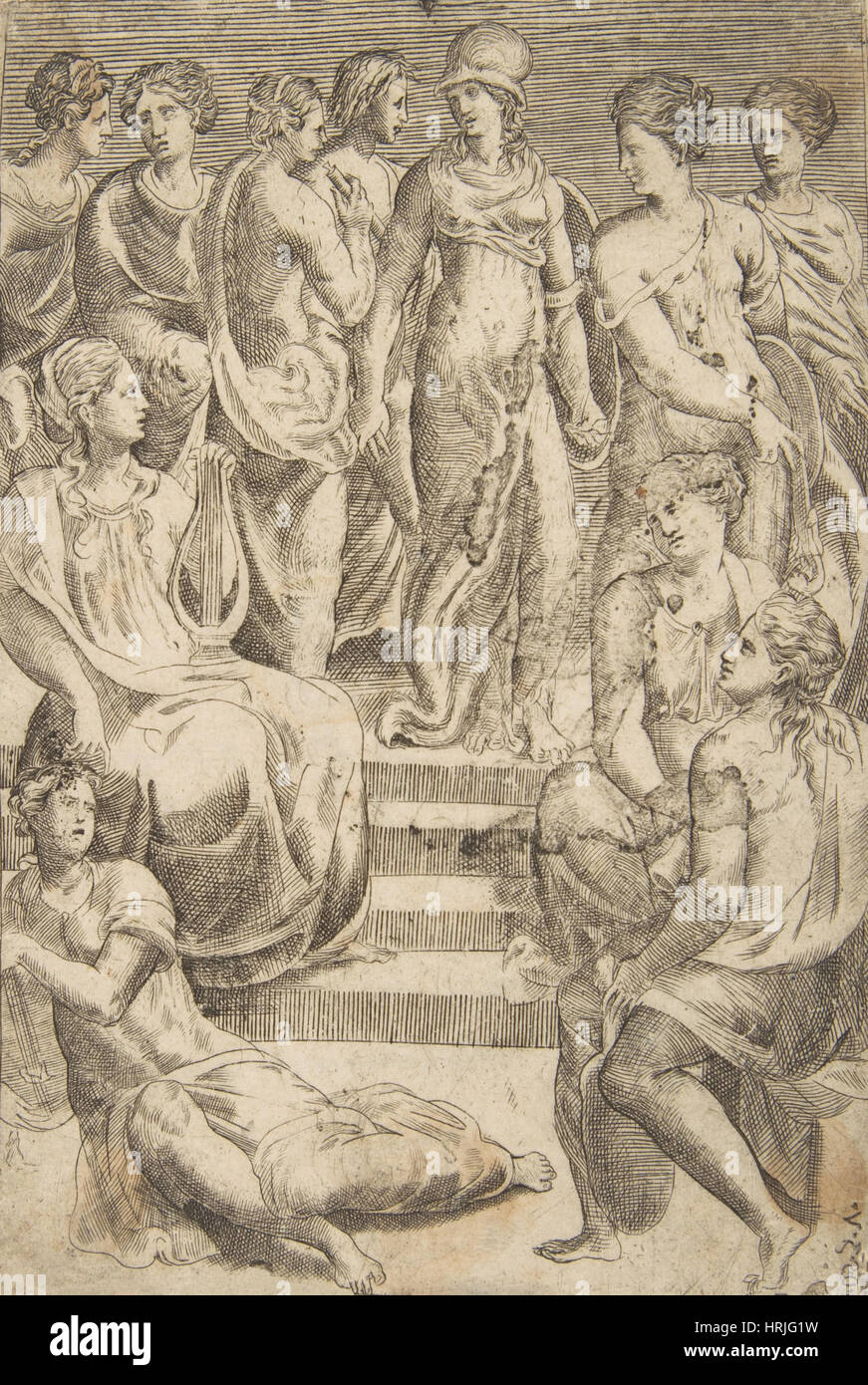 Minerva with the Arts and Sciences - Stock Image