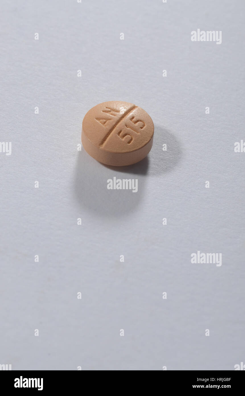 Prescription Medication. Spironolactone 100 MG - Stock Image