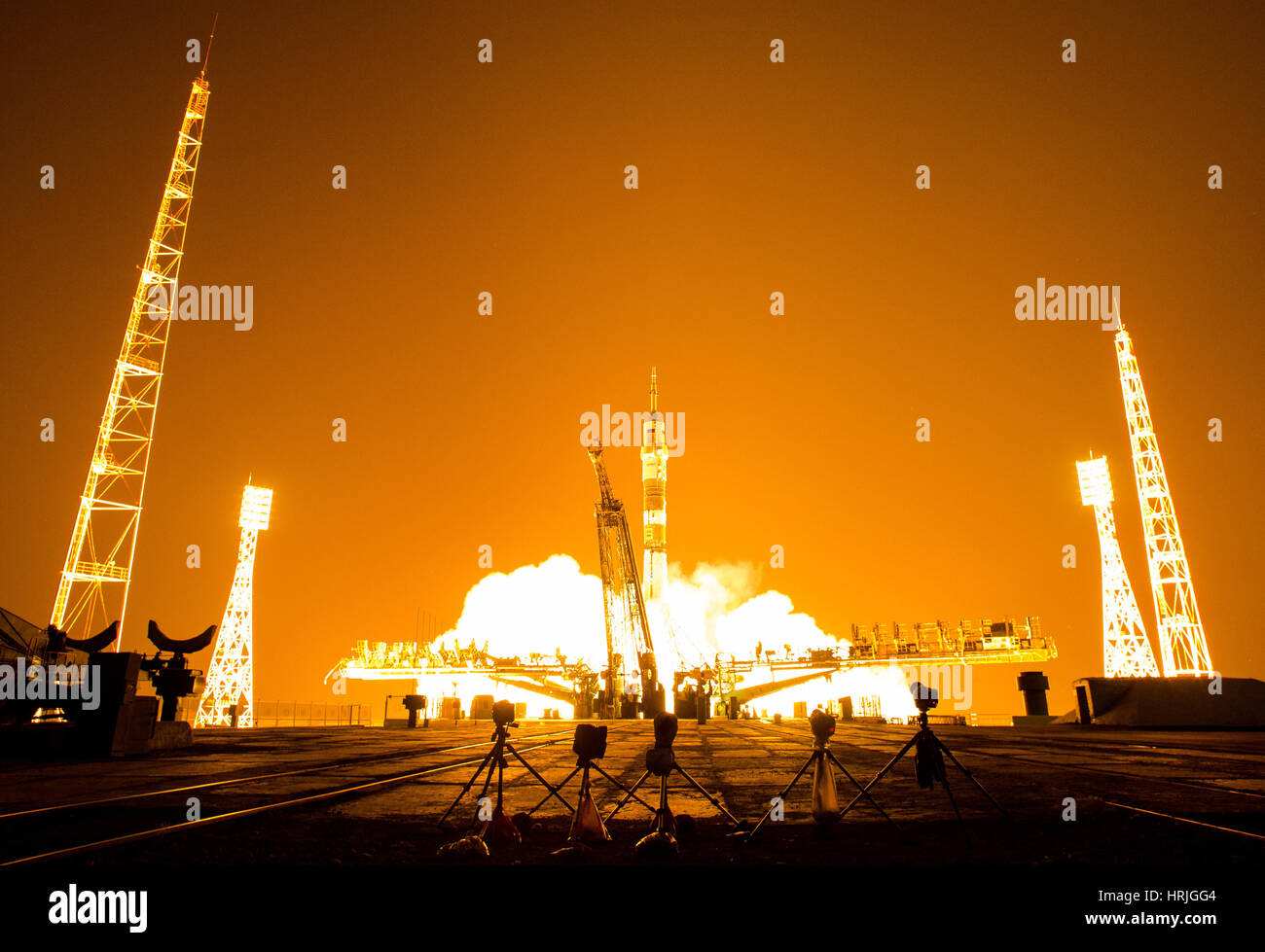 Expedition 40 Launch - Stock Image