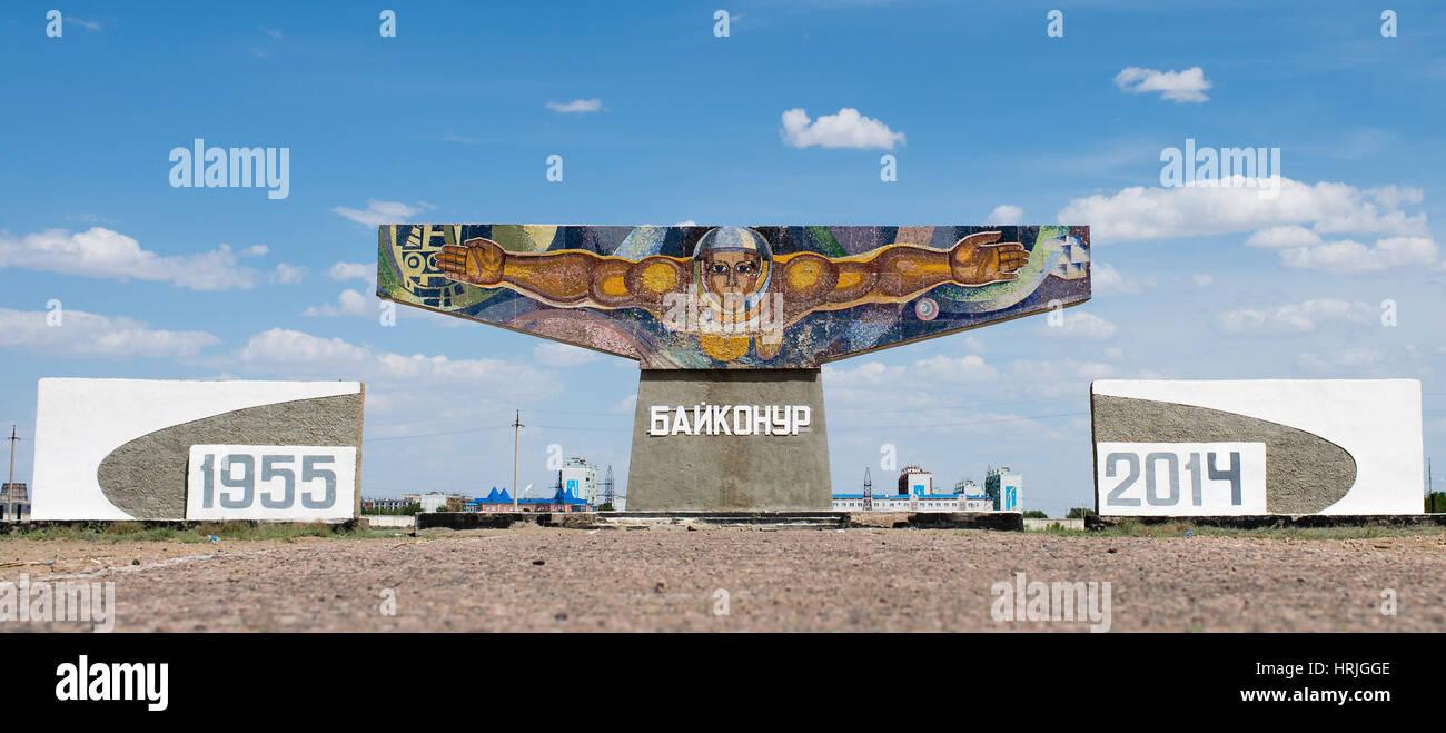 Mural At Baikonur, Kazakhstan - Stock Image