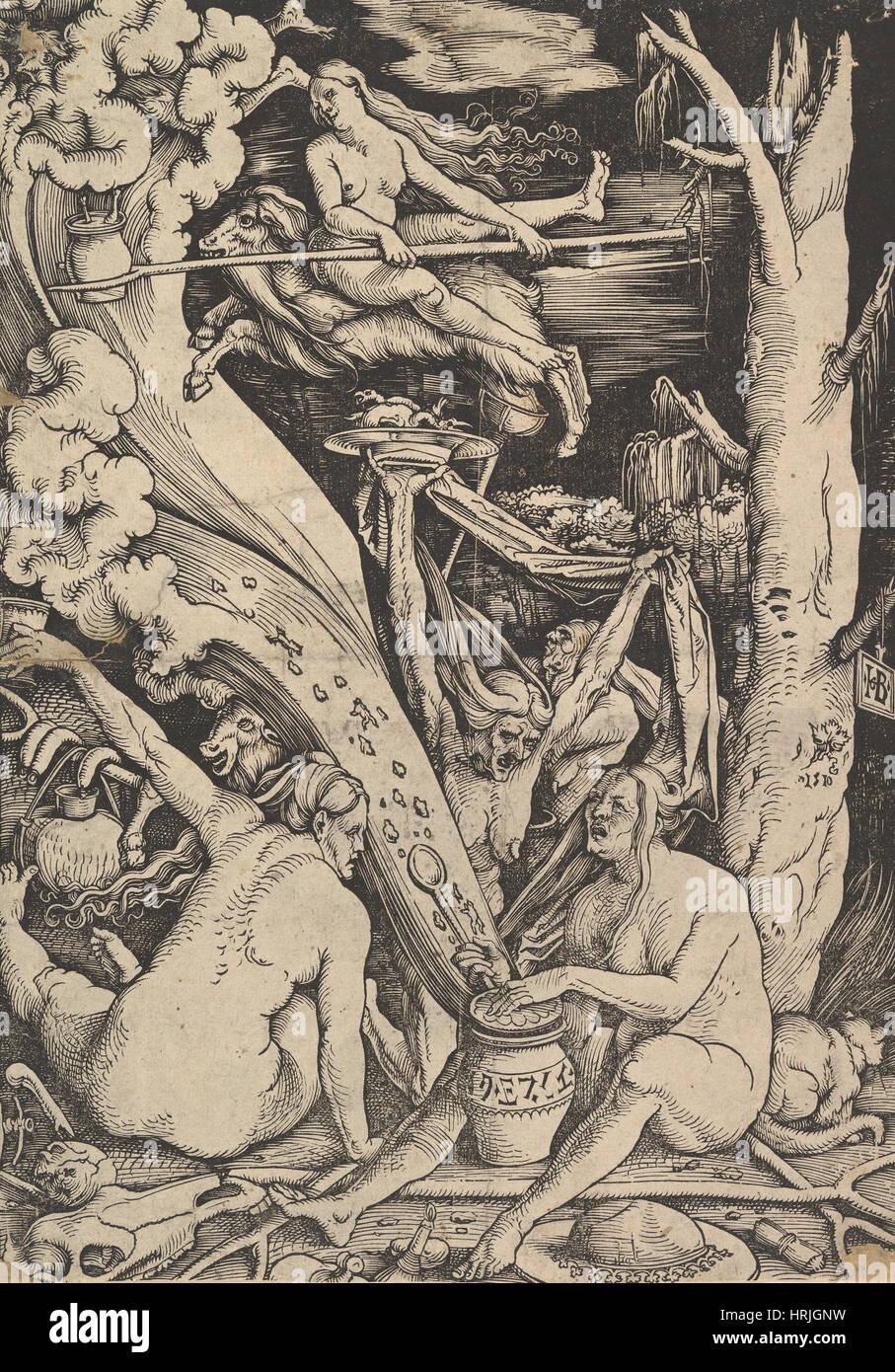 Witches' Sabbath, 1510 - Stock Image