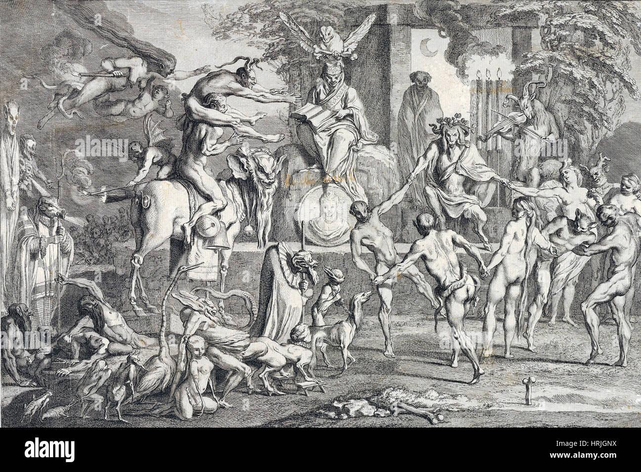 Witches' Sabbath, 18th Century - Stock Image