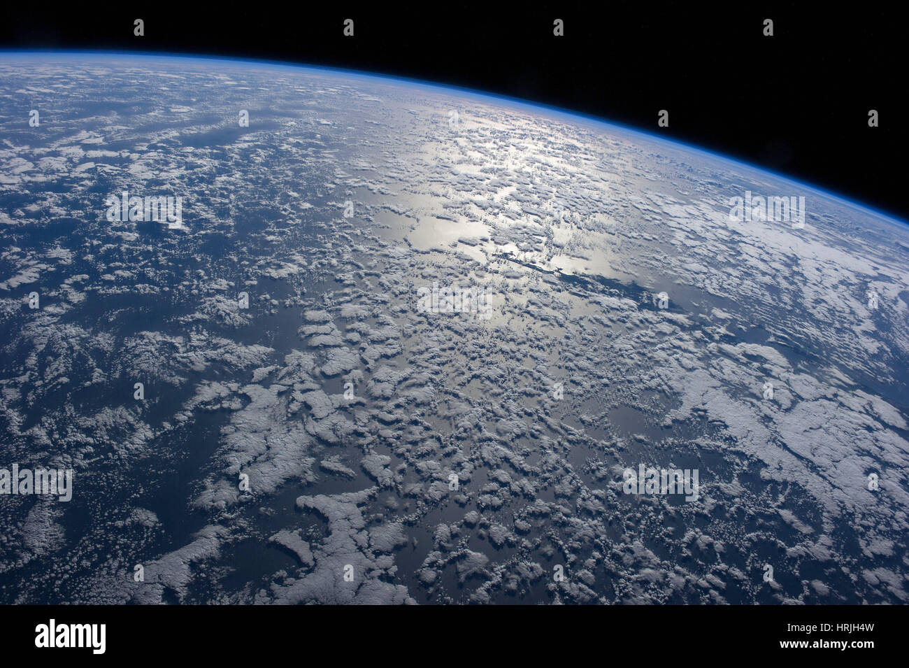 Oceanic Earth from the ISS - Stock Image