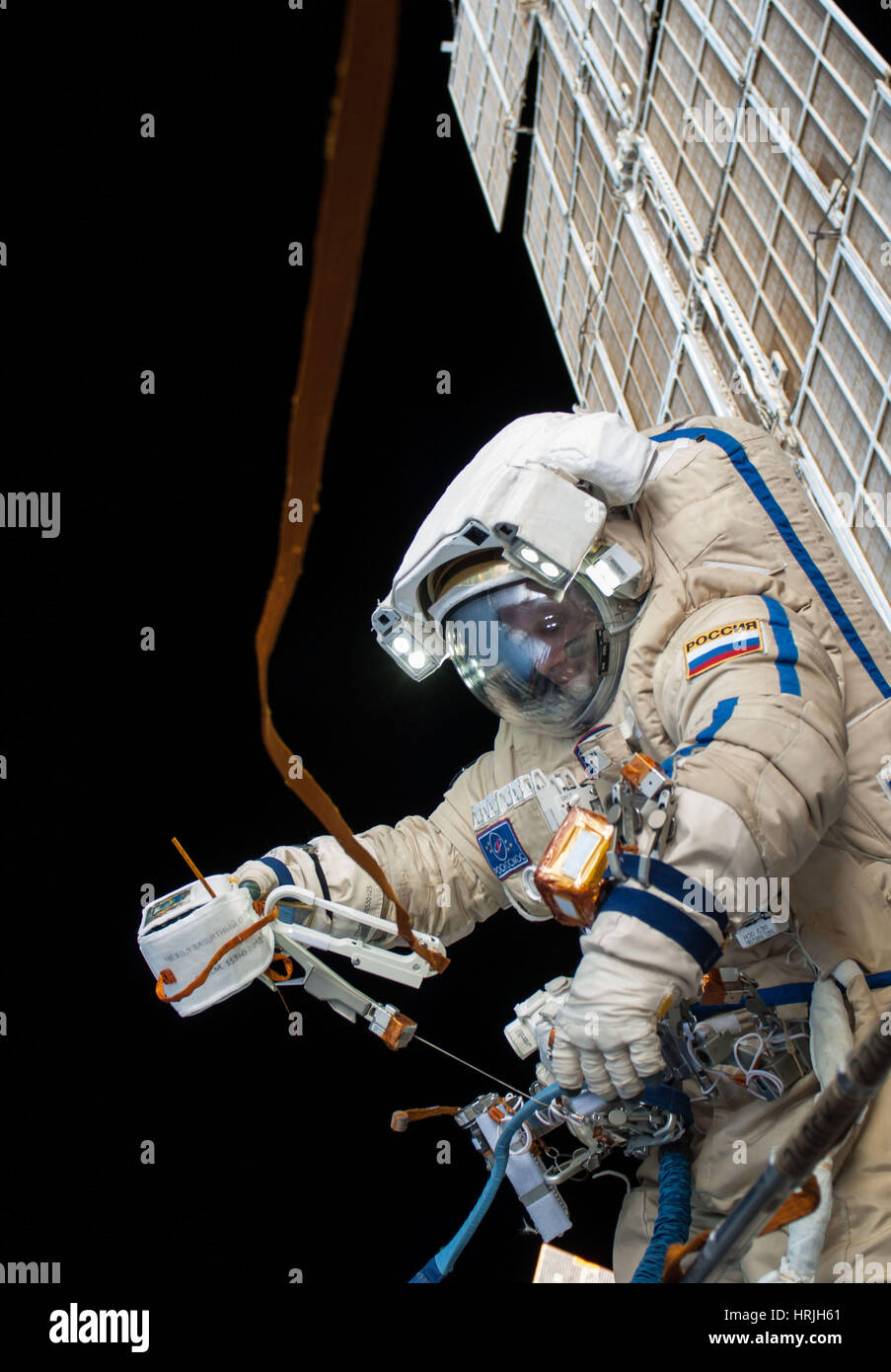 Oleg Artemyev at the ISS - Stock Image