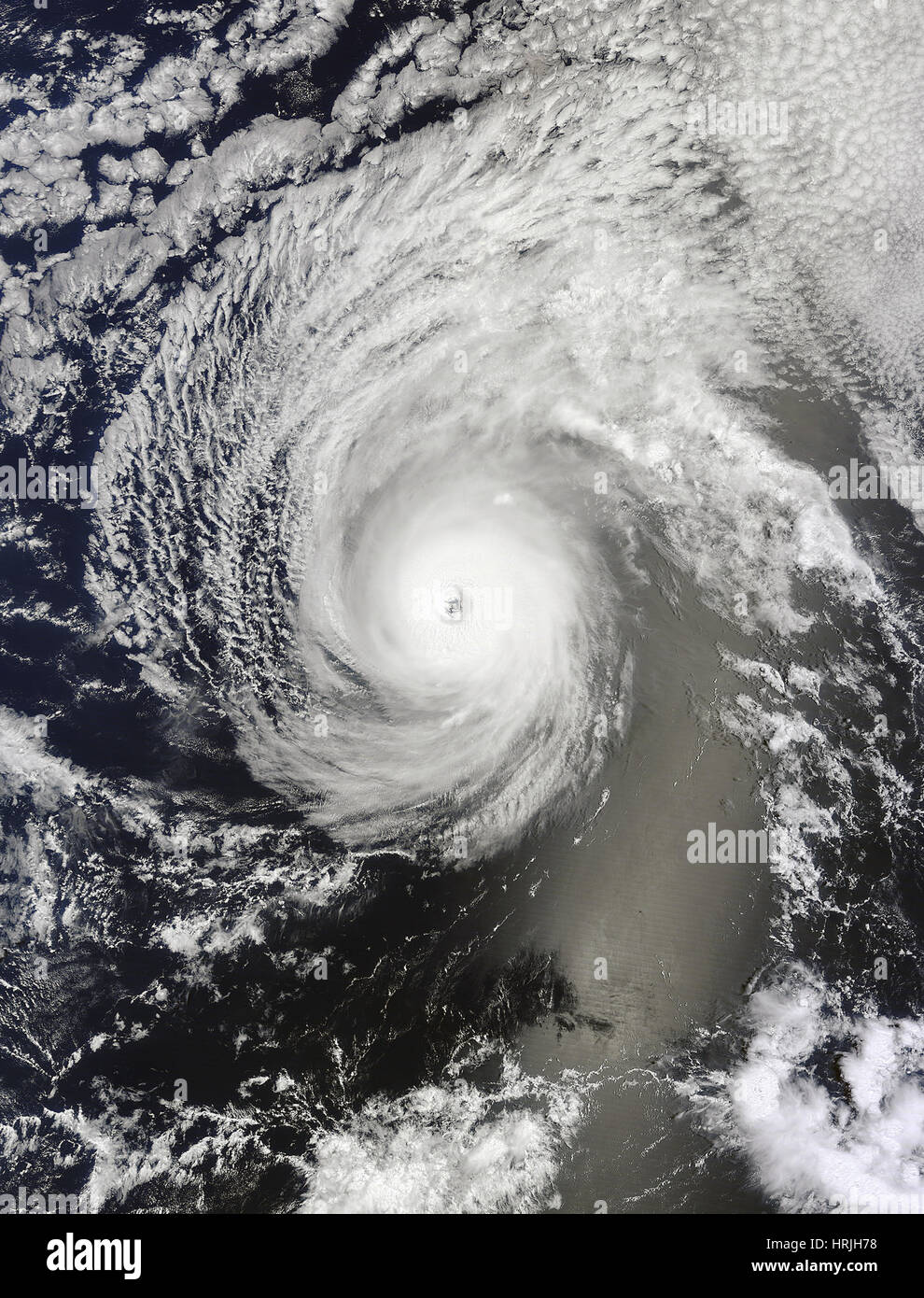Satellite Image of Hurricane Iselle - Stock Image