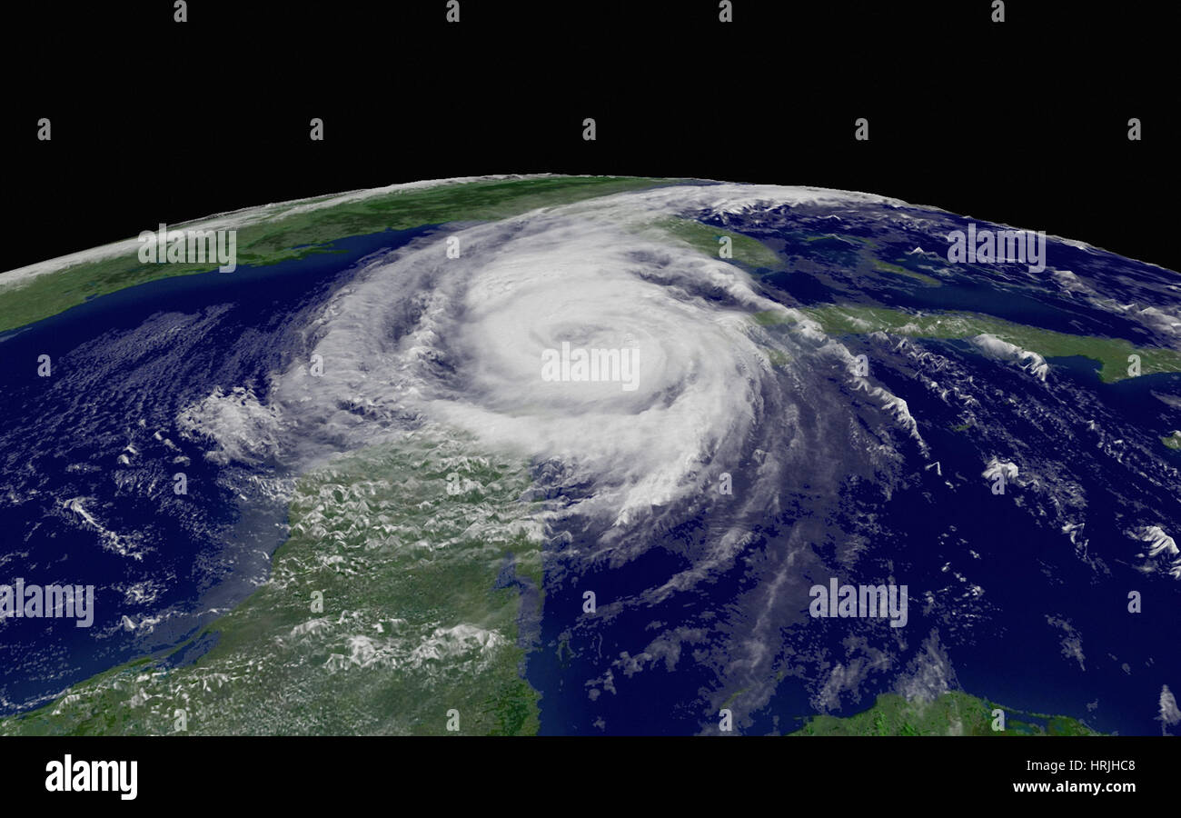 Hurricane Wilma, 2005 - Stock Image