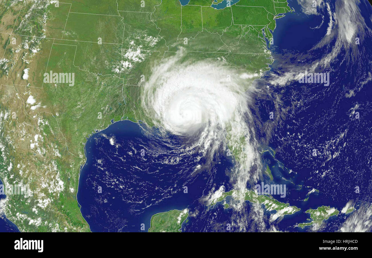 Hurricane Dennis, 2005 - Stock Image