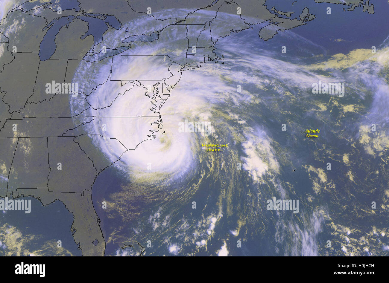Hurricane Isabel, 2003 - Stock Image