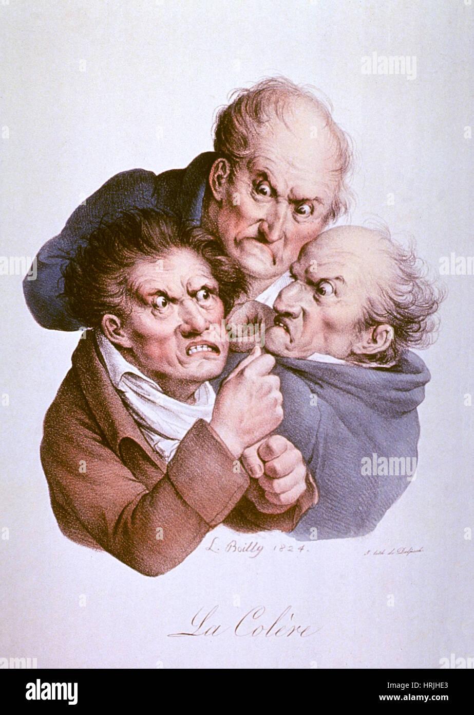 Wrath, 1824 - Stock Image
