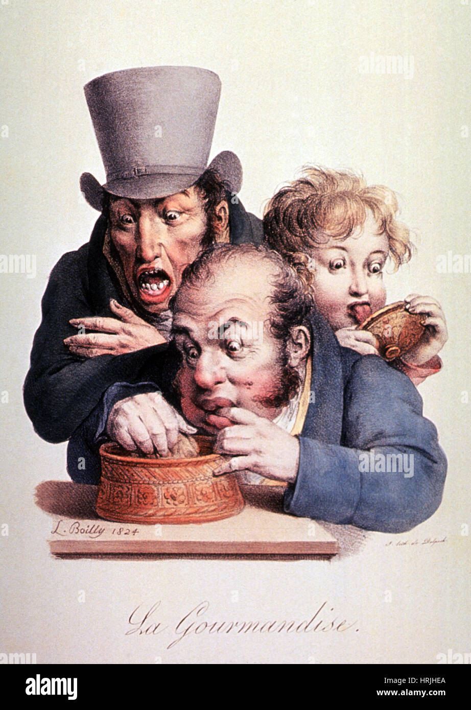 Gluttony, 1824 - Stock Image