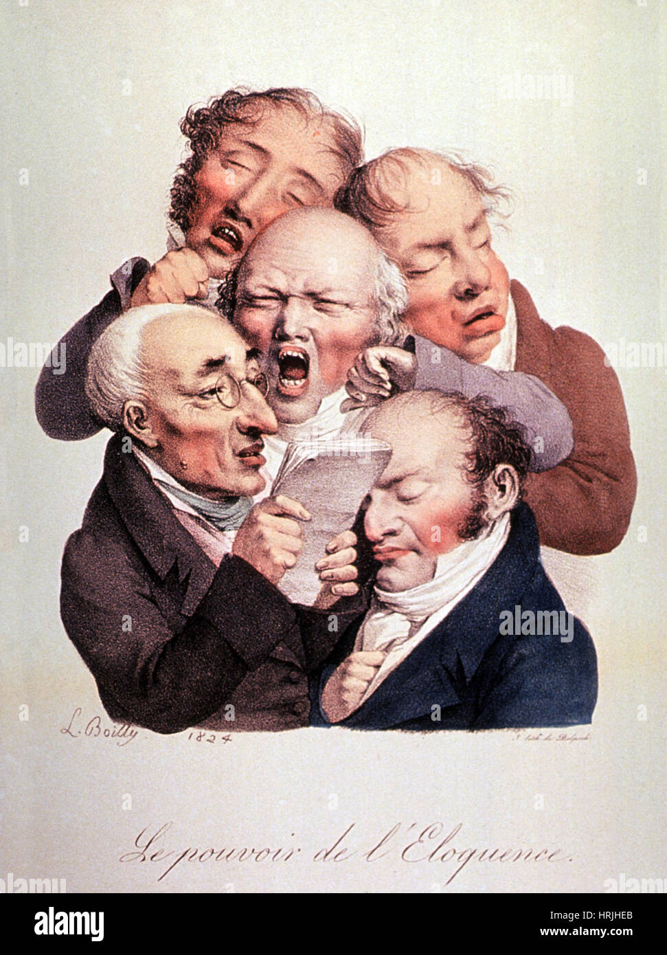 The Power of Eloquence, 1824 - Stock Image