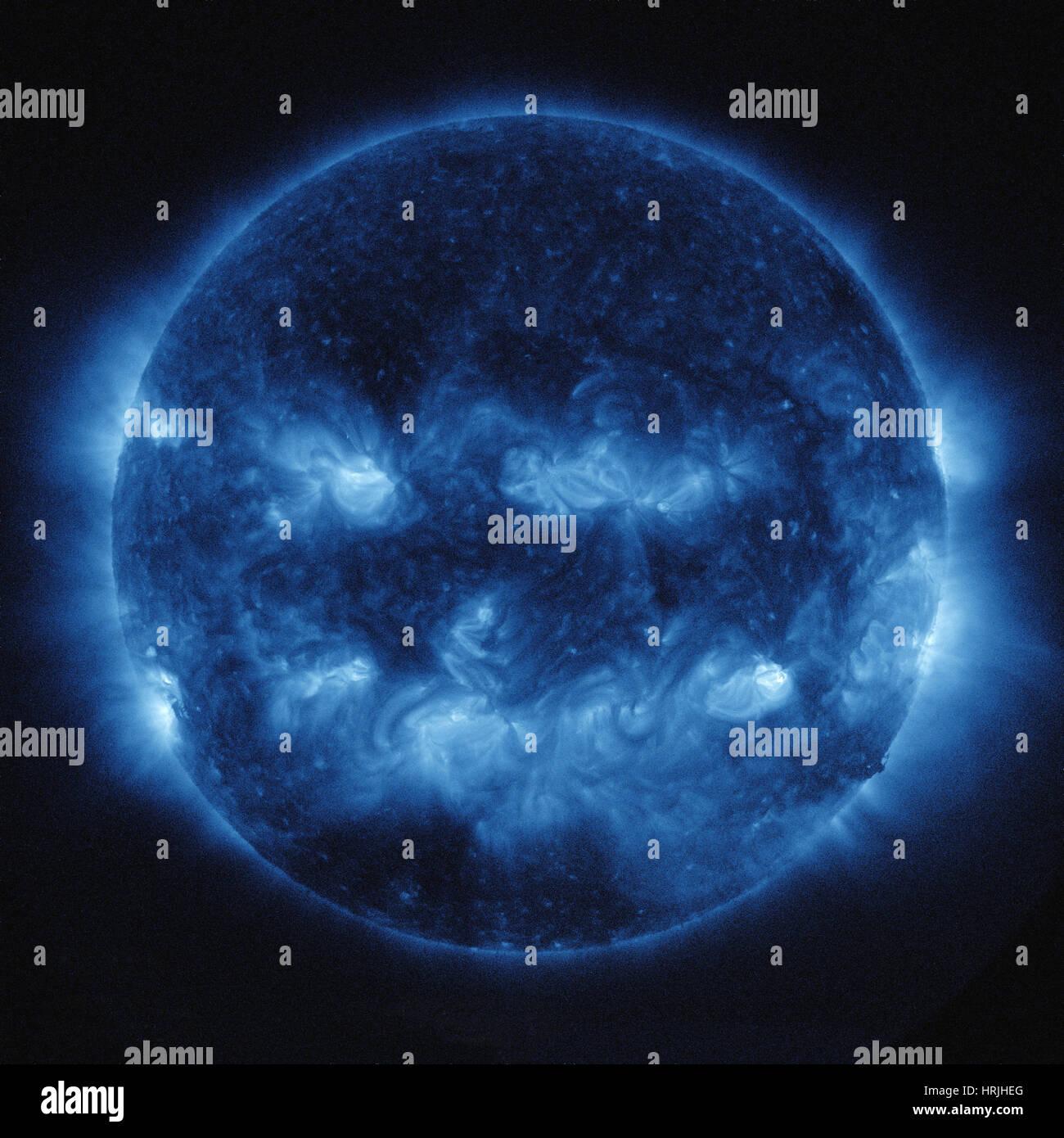 Jack-o'-lantern Sun - Stock Image