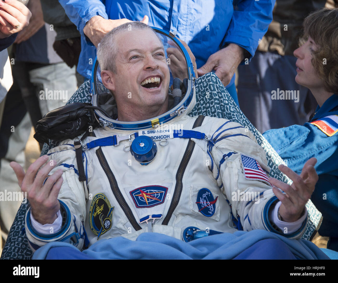 Astronaut Steve Swanson, ISS Return - Stock Image