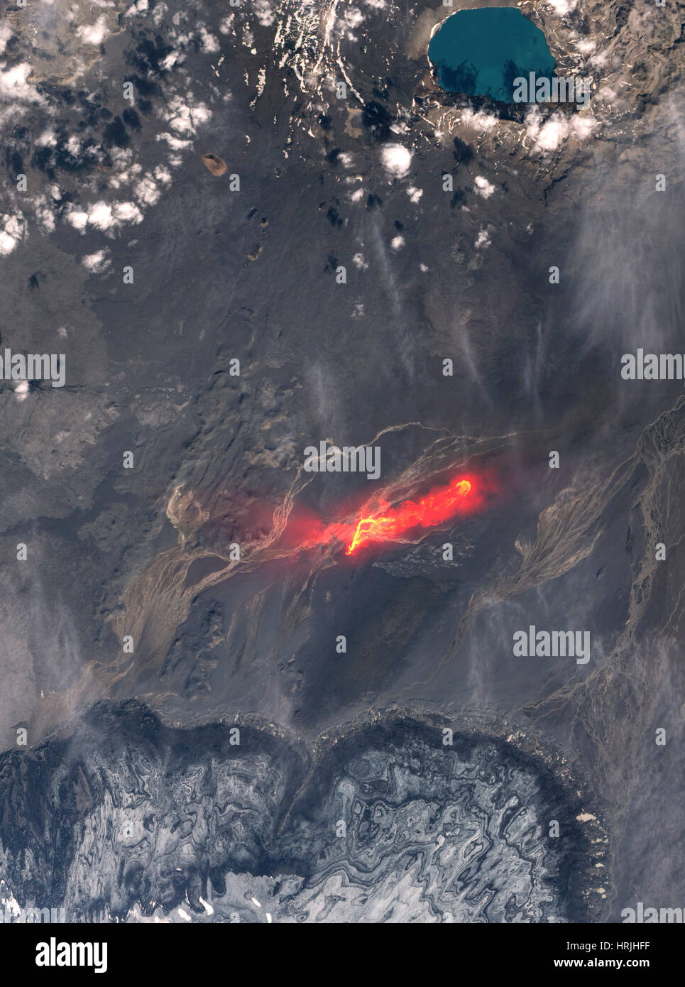 Bardarbunga Volcano Eruption, 2014 - Stock Image