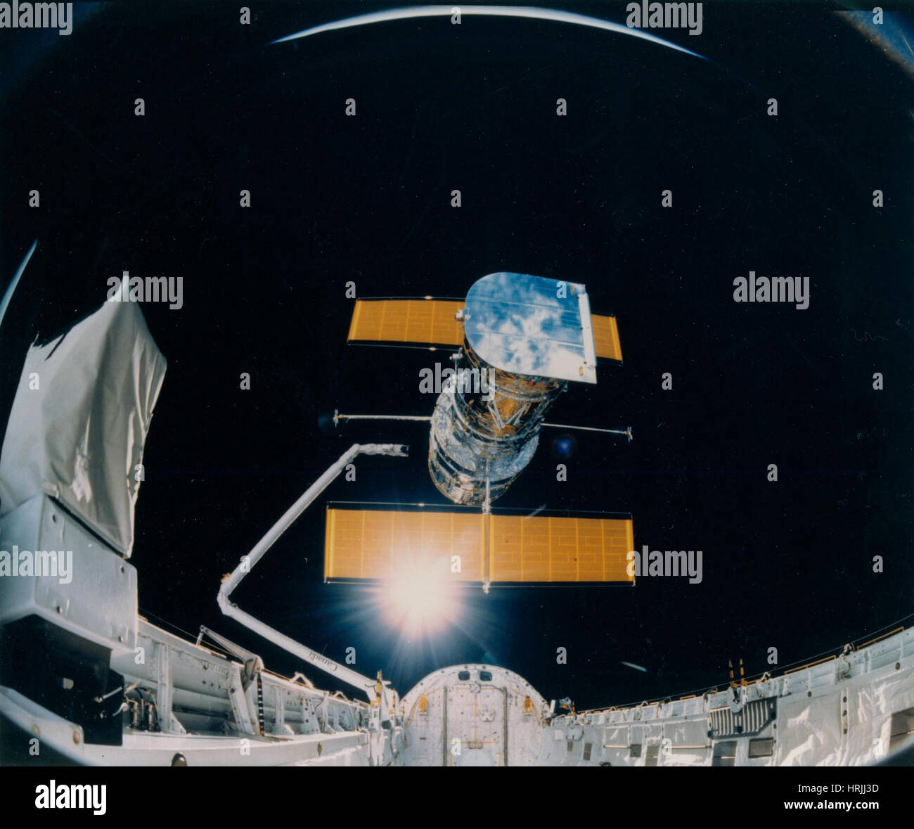 STS-31, Deployment of Hubble Space Telescope, 1990 - Stock Image