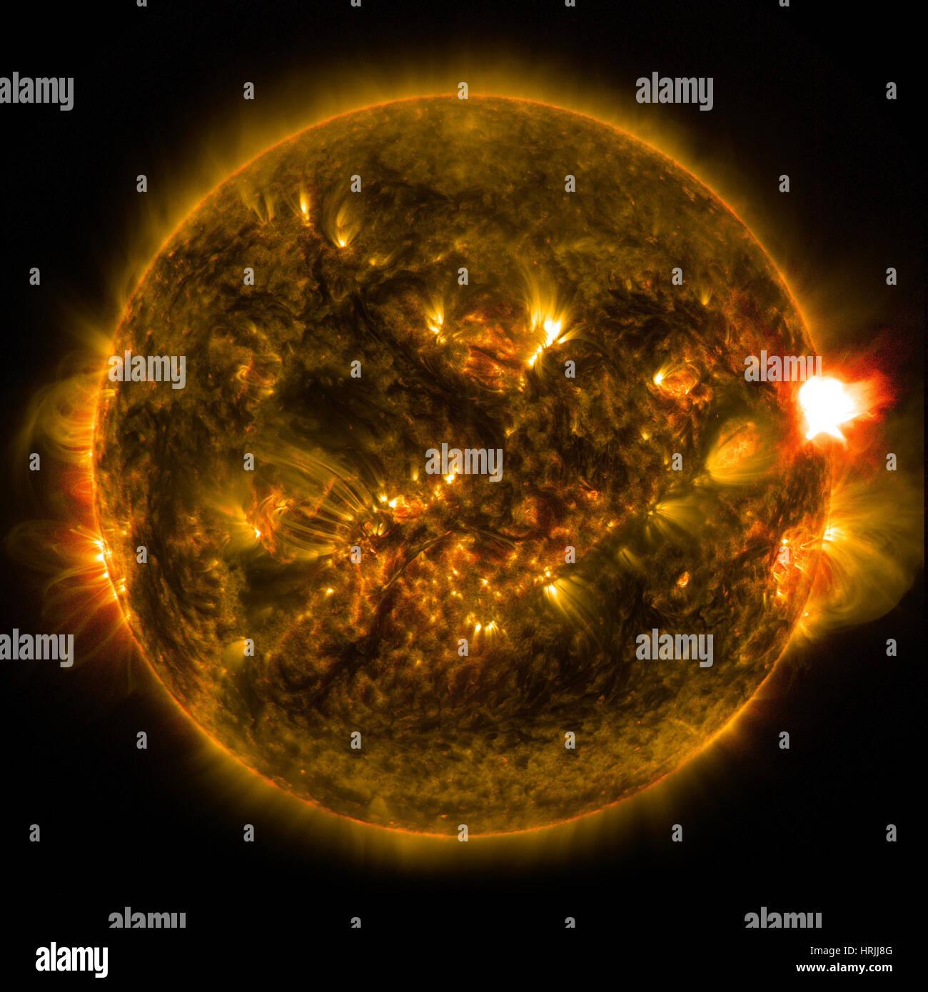 Solar Flare January 12, 2015 - Stock Image