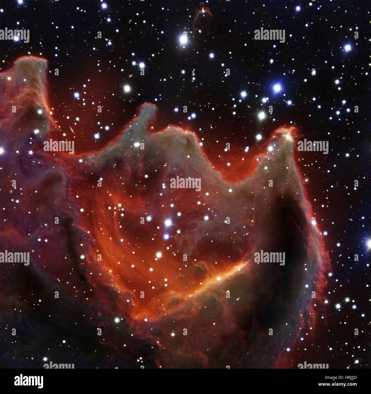 Cometary Globule, CG4, God's Hand - Stock Image