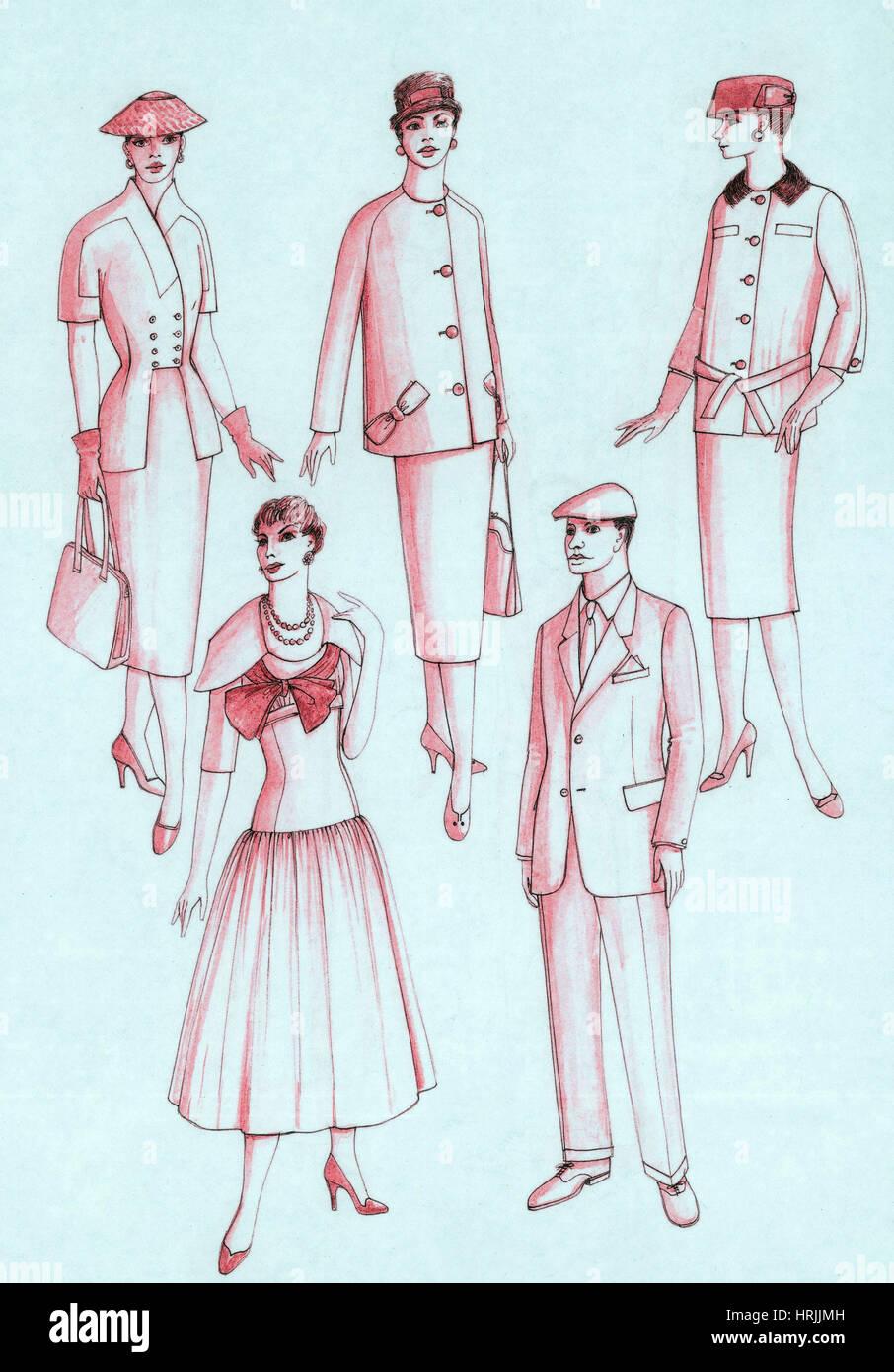 Daywear, 1956 Stock Photo