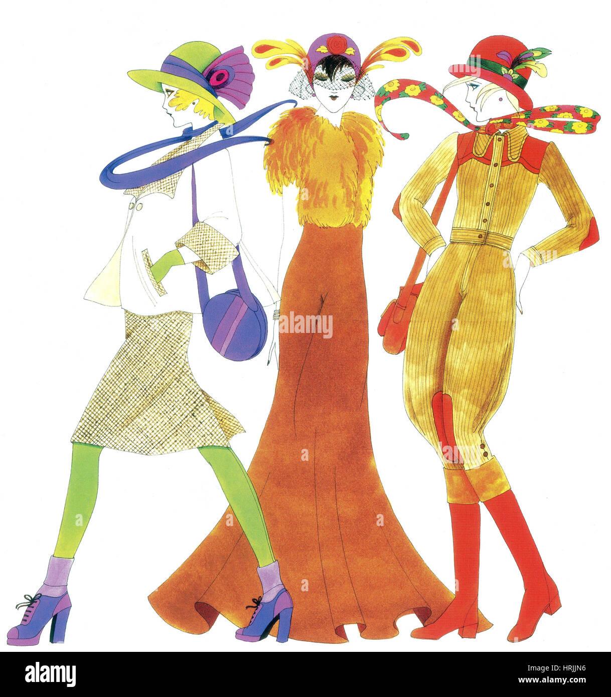 Women's Fashion, 1970 - Stock Image