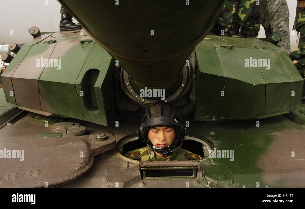 Chinese Tanker Soldier, 2007 - Stock Image