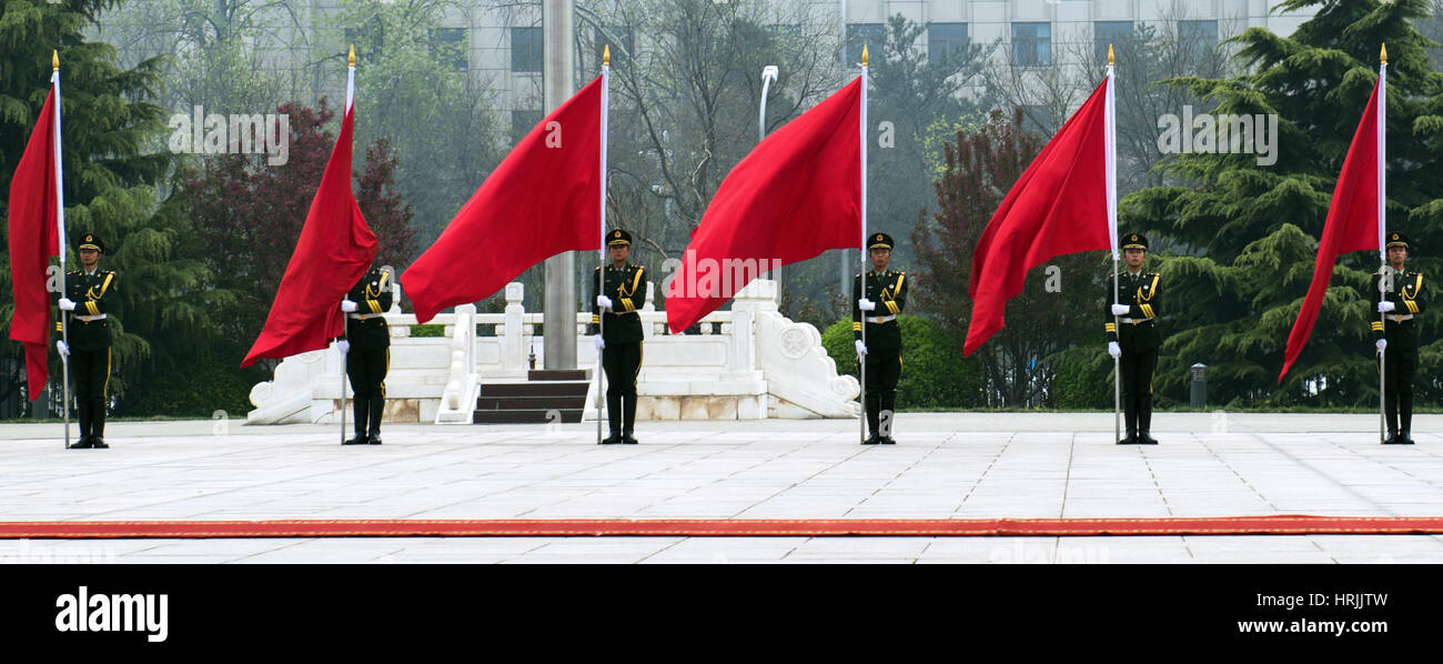 Chinese Honor Guard, 2013 - Stock Image