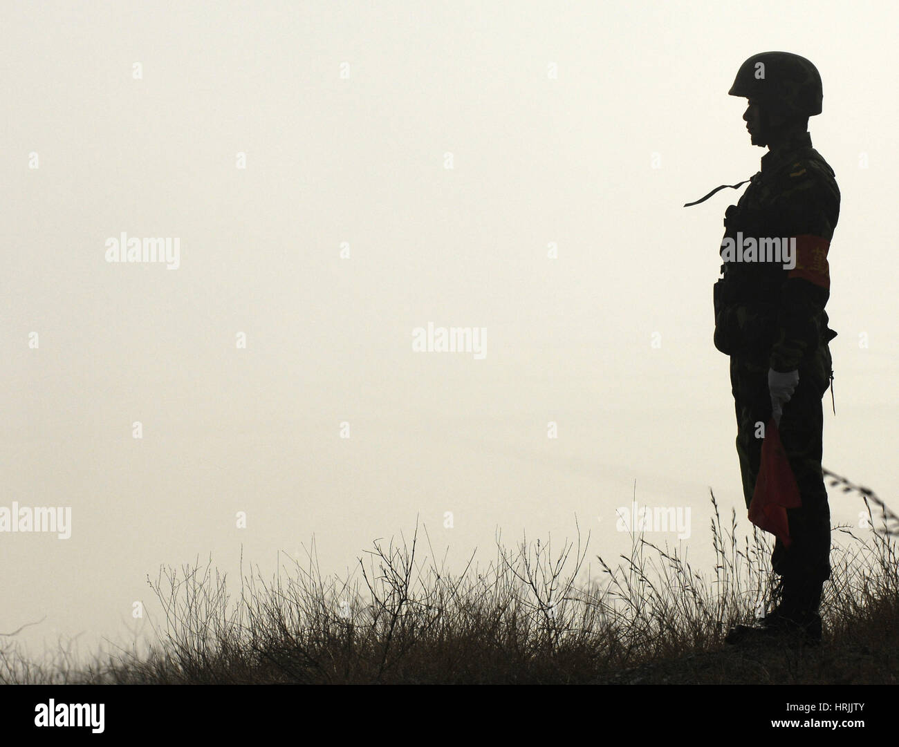 Chinese Soldier, People's Liberation Army, 2007 Stock Photo