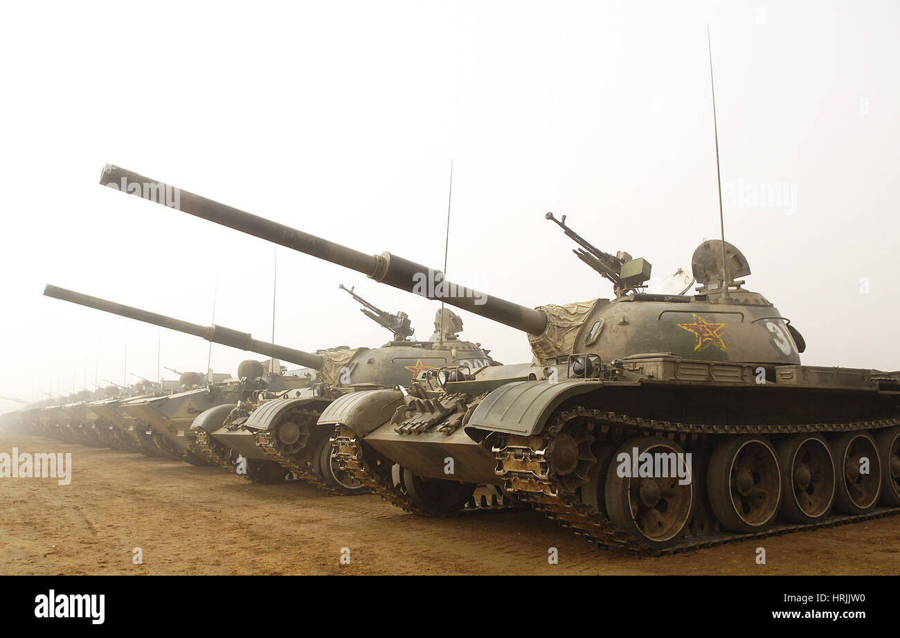 Chinese Tanks, People's Liberation Army, 2007 - Stock Image
