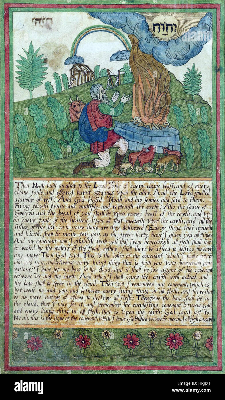 Noah's Sacrifice and Covenant, 1608 - Stock Image