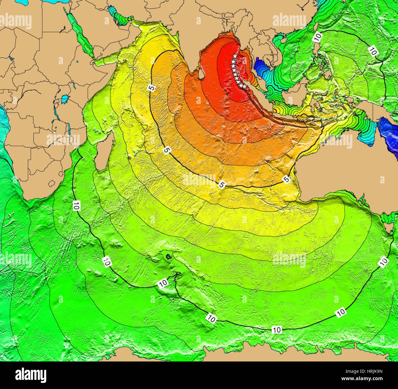 Tsunami map sumatra earthquake 2004 stock photo 135019969 alamy tsunami map sumatra earthquake 2004 gumiabroncs Gallery