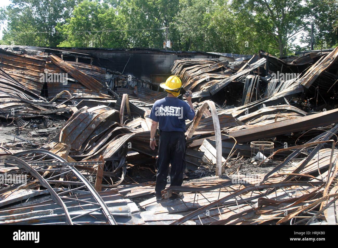 Charleston Sofa Super Store Fire, 2007 - Stock Image