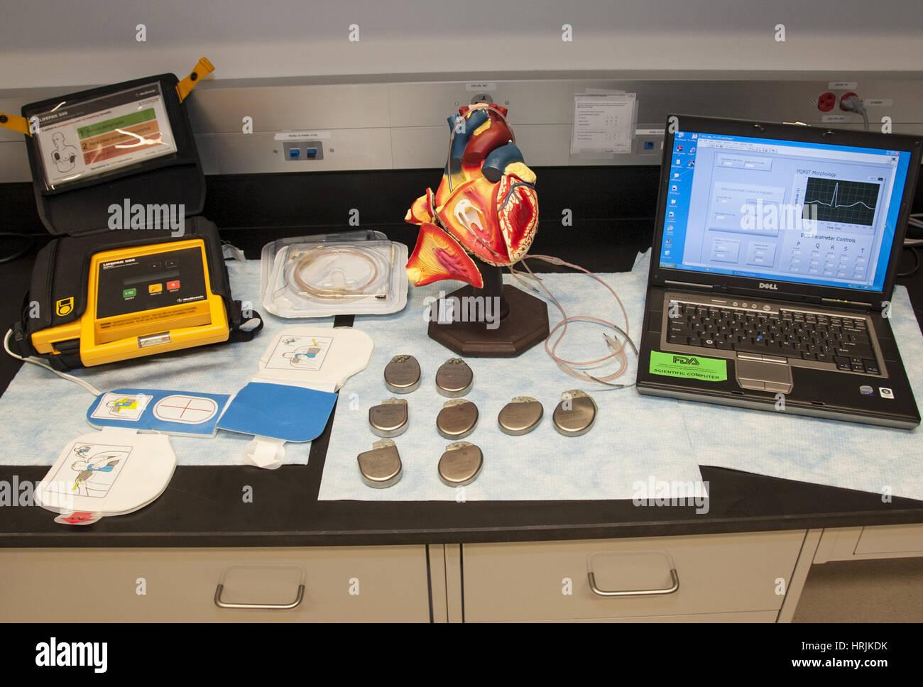 Defibrillator Research, 2015 - Stock Image
