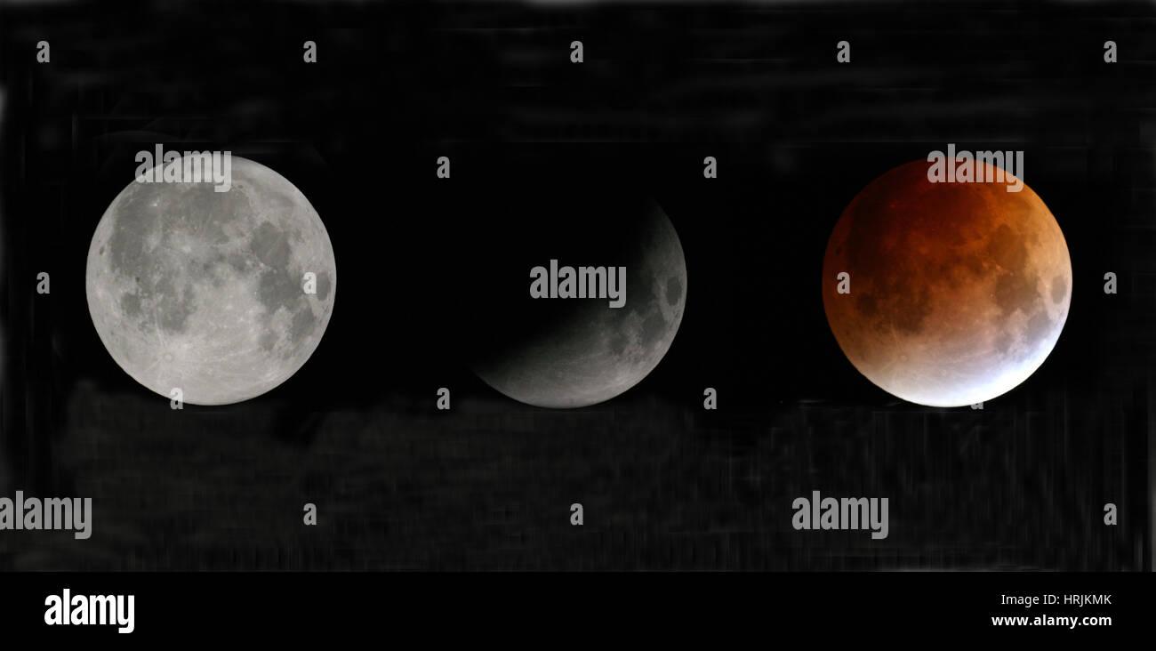 Total Lunar Eclipse, 2007 - Stock Image