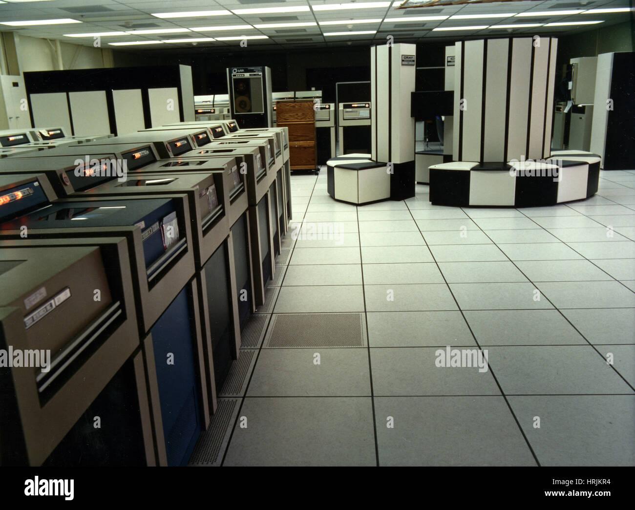Cray-X MP/48 Supercomputer, LLNL, 1980s - Stock Image