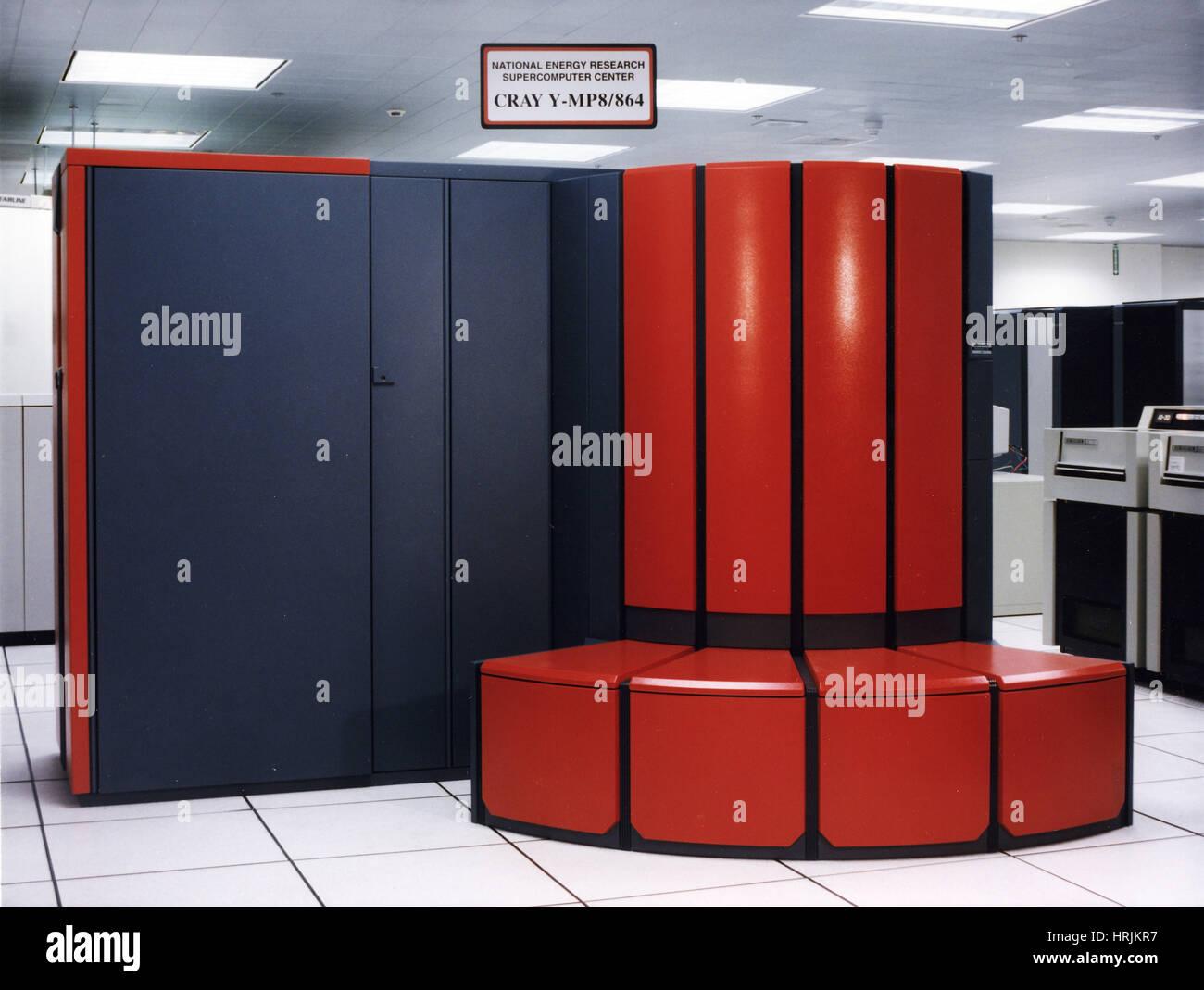 Cray Y-MP8/864 Supercomputer, LLNL, 1990s - Stock Image