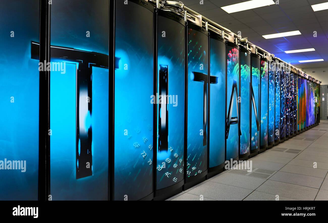 TITAN Supercomputer, ORNL, 2012 - Stock Image