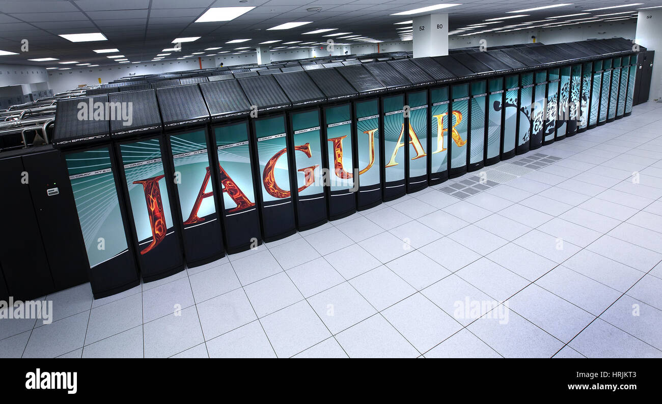 JAGUAR Supercomputer, ORNL, 2008 - Stock Image