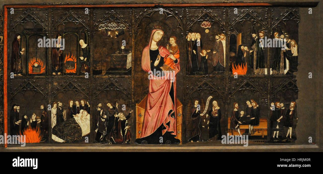 Master of Vallbona de les Monges (Guillem Seguer?), 14th century. Altar frontal of the Corpus Christi, ca. 1335 - Stock Image