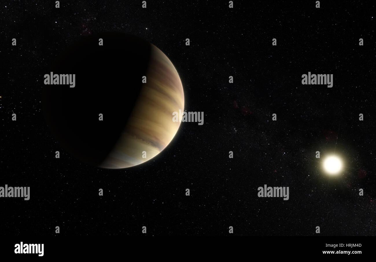 Hot Jupiter Exoplanet 51 Pegasi b - Stock Image