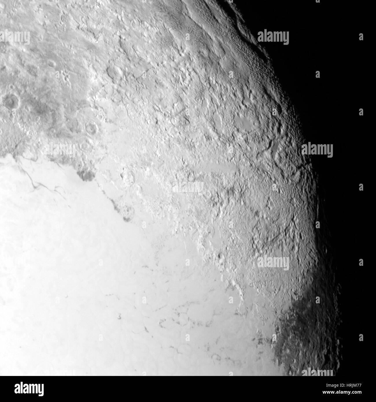 Pluto, LORRI image, 2015 - Stock Image