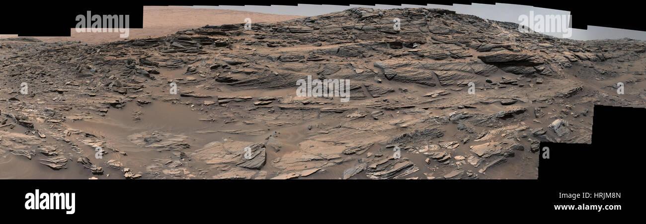 Crossbedded Martian Sandstone - Stock Image