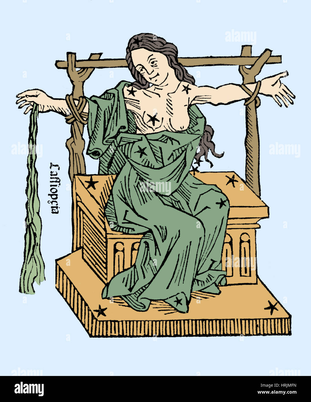 Seated Queen of Cassiopeia Constellation - Stock Image
