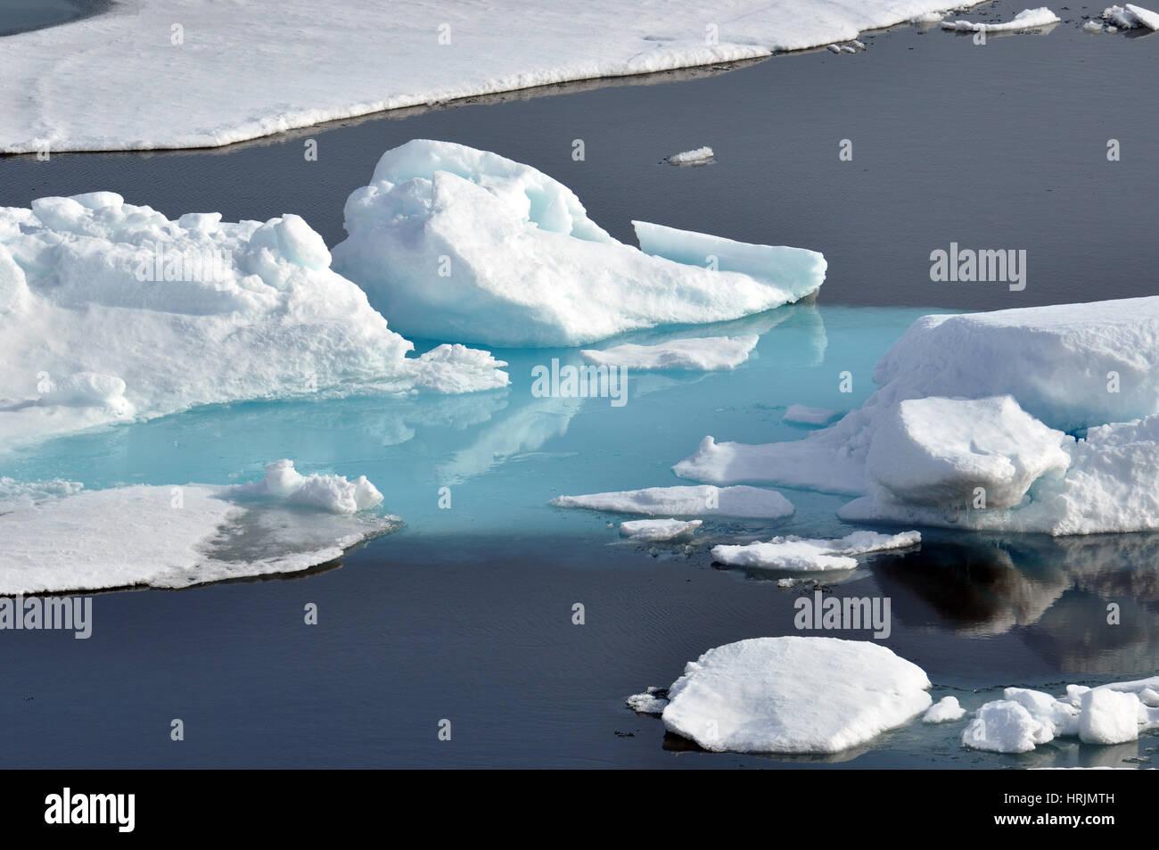 Arctic Ice, USCG Arctic Expedition, 2009 Stock Photo