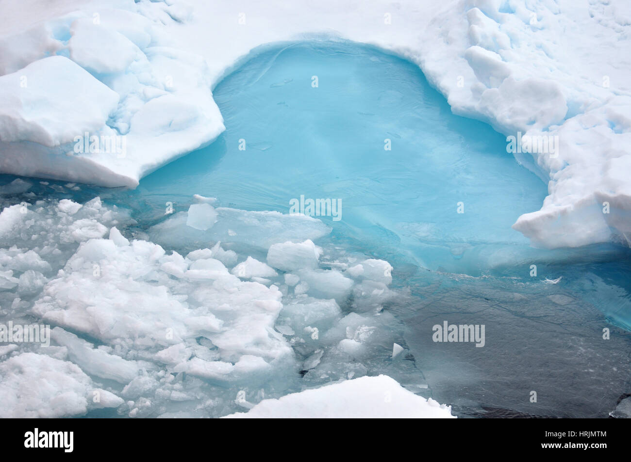 Blue Ice, USCG Arctic Expedition, 2009 Stock Photo