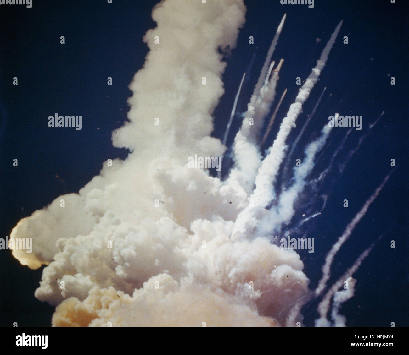 Space Shuttle Challenger Disaster, 1986 - Stock Image