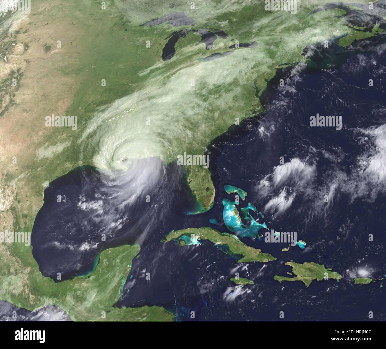 Hurricane Katrina, GOES Image, 2005 - Stock Image