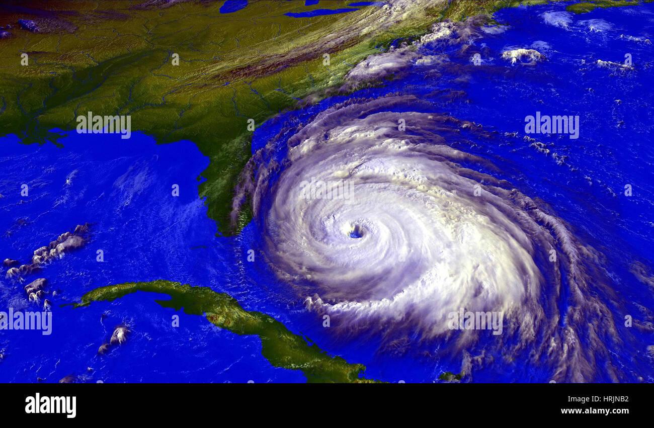 Hurricane Floyd, GOES Image, 1999 - Stock Image