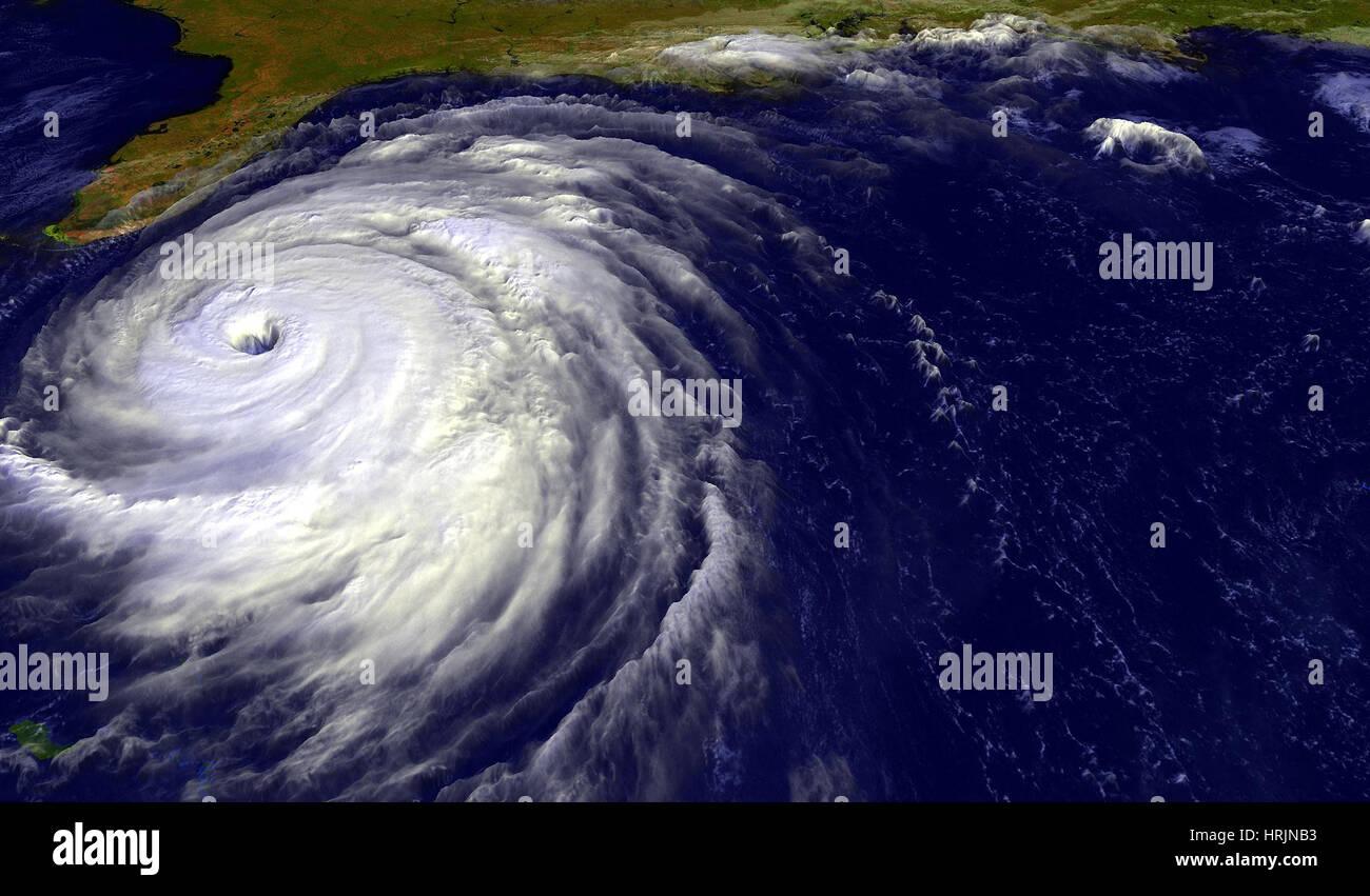 Hurricane Floyd, GOES Image, 1999 Stock Photo